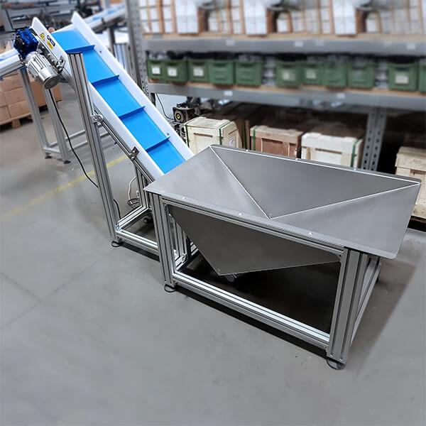 Przenośniki wznoszące aluminiowe